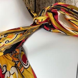 INC International Concepts Tops - 100% Silk Tie Neck Sleeveless Blouse - Boho Class